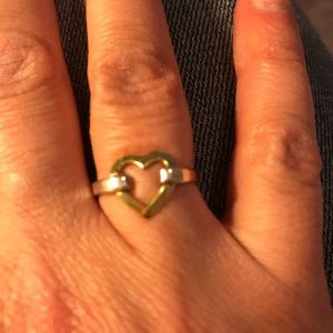 Tiffany & Co. sterling silver and 18kt gold ring